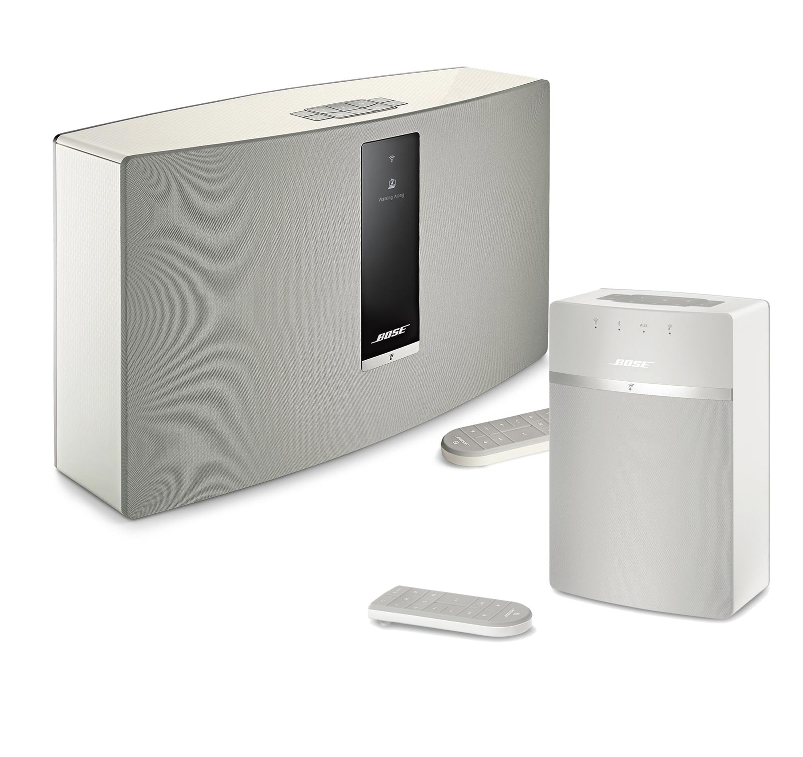 bose soundtouch 30 and 10 bluetooth music system kit white ebay. Black Bedroom Furniture Sets. Home Design Ideas