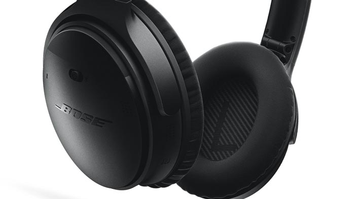Close-up image of QC35 earcup.