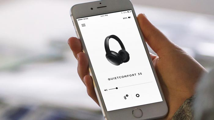 Image of QC35 mobile app.