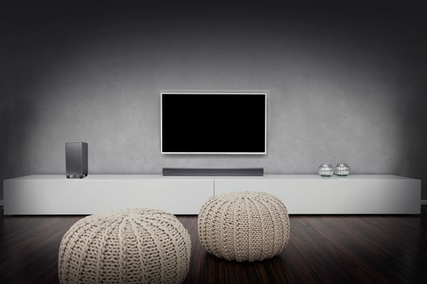 Image of TVB2 sound bar in a room