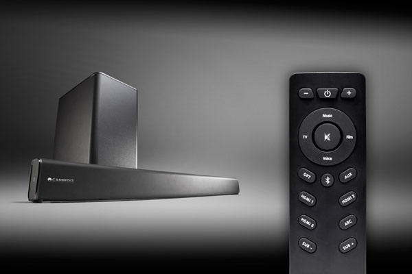 Image of TVB2 remote controlling tv and sound bar
