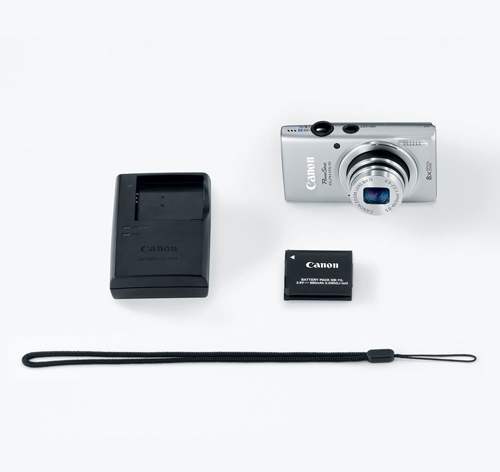 Canon PowerShot ELPH 115 IS Silver 16-MP Digital Camera at Sears.com