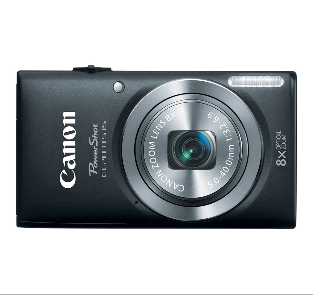 Canon PowerShot ELPH 115 IS Black 16-megapixel Digital Camera at Sears.com