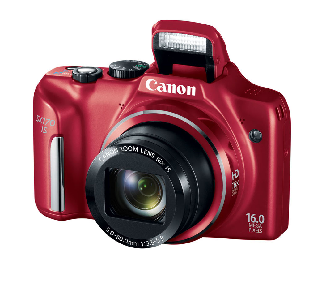 Canon PowerShot SX170 IS Red 16-megapixel Digital Camera at Sears.com