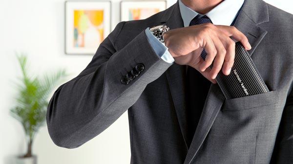 Harman Kardon Esquire Mini In suit pocket