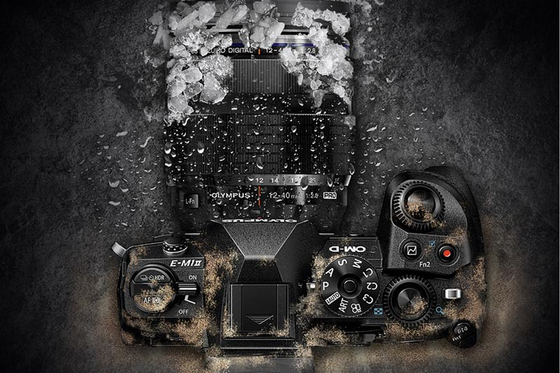 Image of OMD EM1 MK II in dust and ice