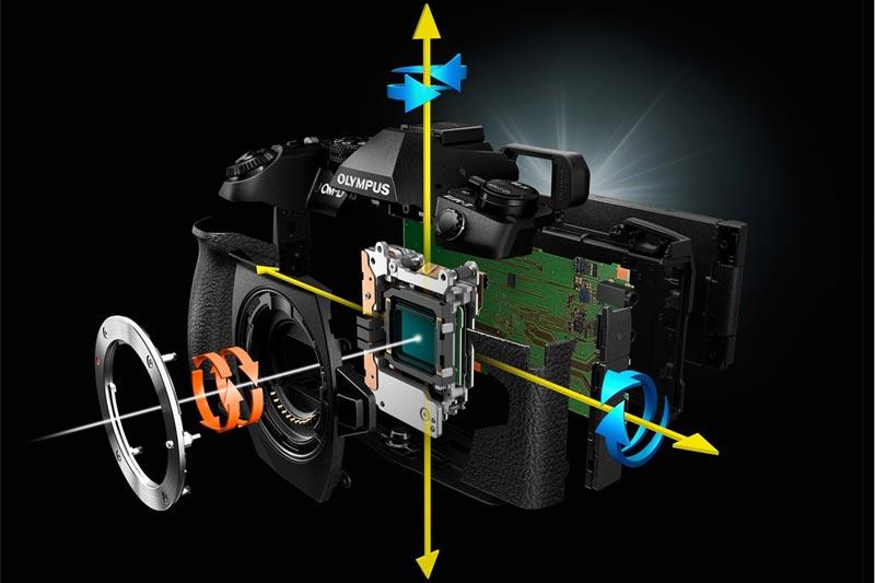 Image of image stabilization mechanism in OMD EM1 MK II