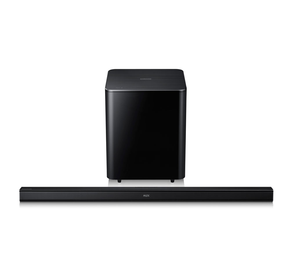 Samsung HW-F550 2.1-Channel Speaker Bar with Wireless Subwoofer at Sears.com