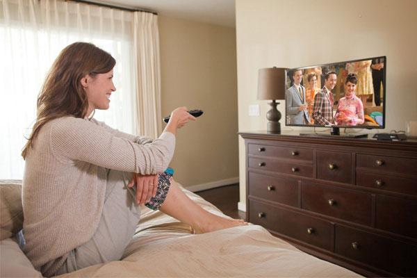 TiVo Mini in bedroom