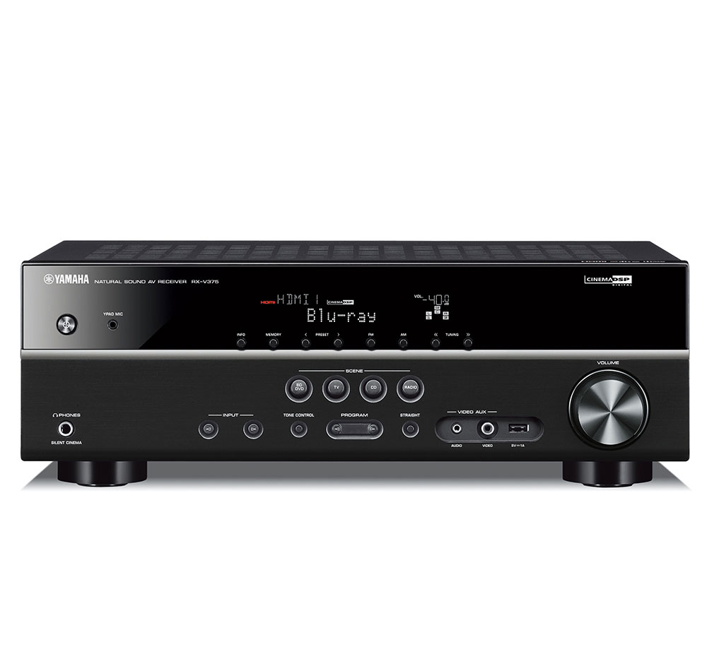 Yamaha RXV375BL 5.1-Channel 3D Home Theater Receiver at Sears.com
