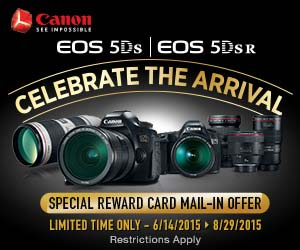 EOS 5DS/5DS R Arrival Rebate Offer.