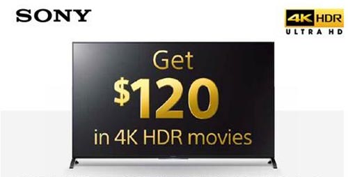 Sony $120 TV 4K HDR Movies