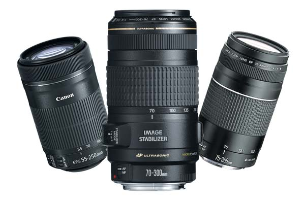 Image of Canon Lenses.