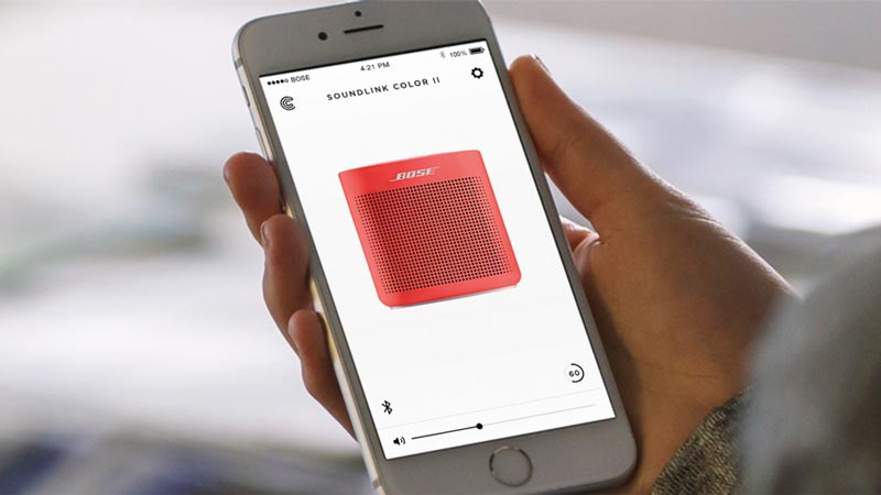 Image of Bose Connect App.