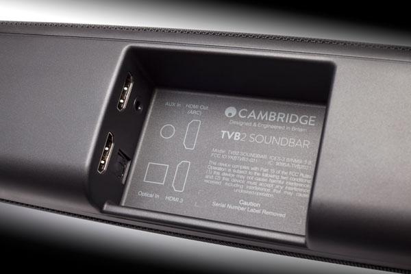 Image of TVB2 rear panel inputs