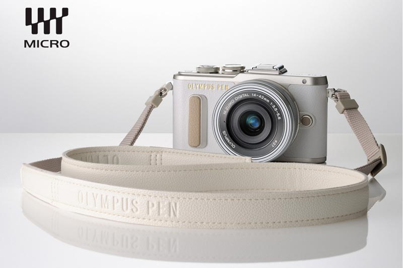 Image of Olympus E-PL8 with strap accessory