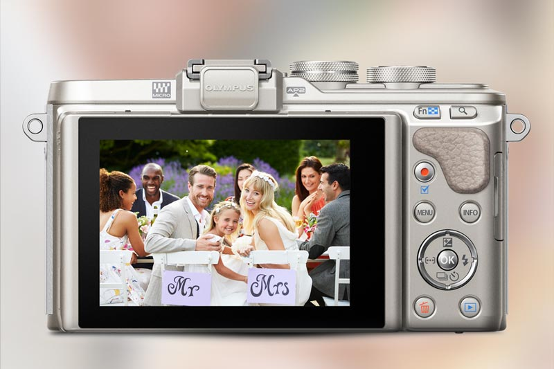 Image of Olympus E-PL8 LCD and wedding