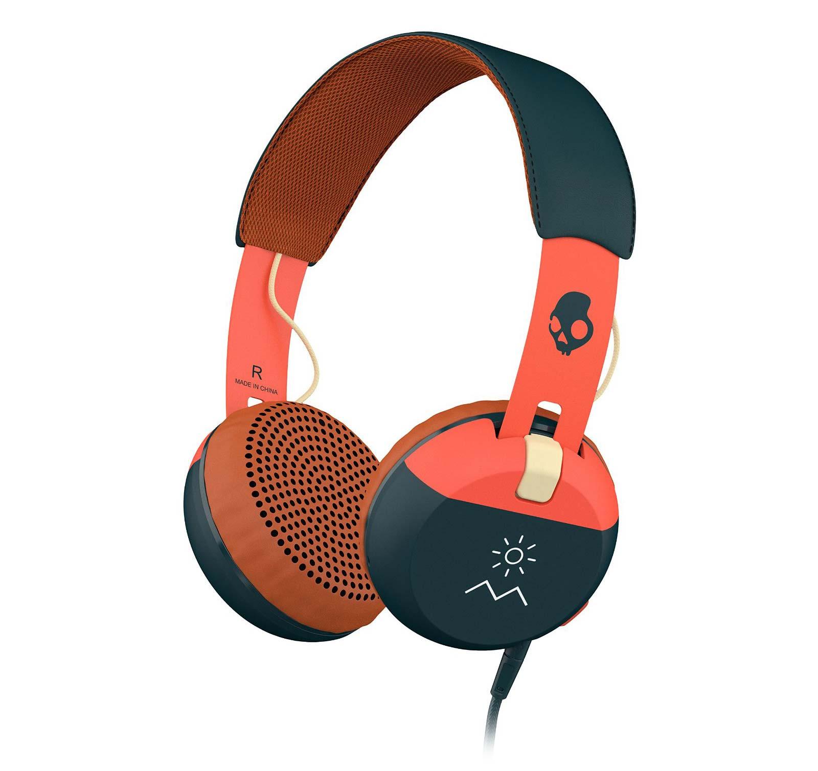 Grind Explore/Orange/Navy On-Ear Headphones (S5GRHT-467)