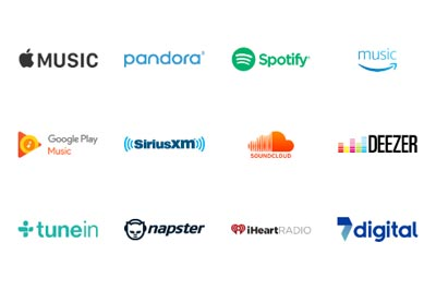 30 streaming services available. Image of the streaming service logos.